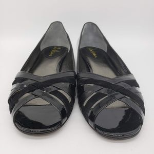 Cole Haan Womens 7.5 B Black Patent Leather